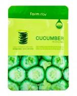 Маска с экстрактом огурца FARMSTAY Cucumber visible difference mask sheet 23мл: фото