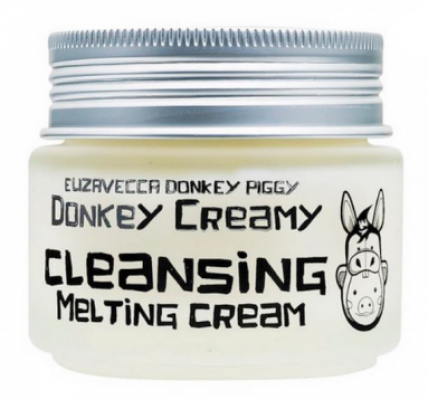 Крем для снятия макияжа ELIZAVECCA Donkey creamy cleansing melting cream 100г: фото