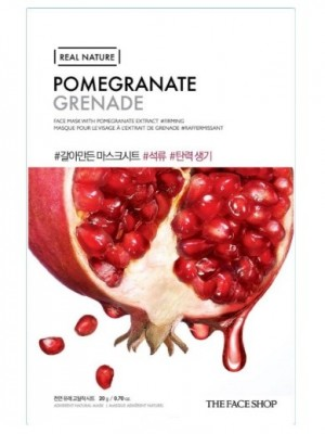Маска с экстратом граната THE FACE SHOP Real Nature Mask Sheet Pomegranate 20мл: фото