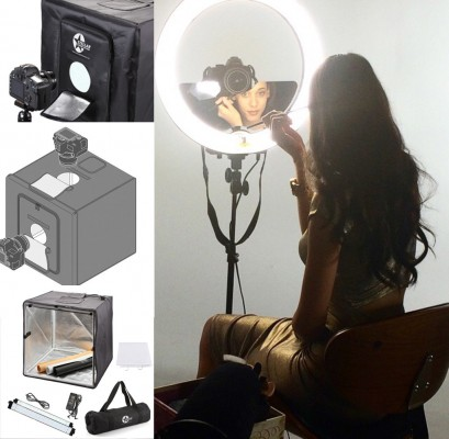 "Кольцевая лампа Stellar Diva 18"" Ring Light + Stand+ Stellar Photo Cube: фото"