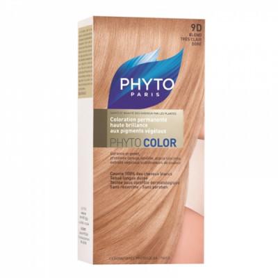 Краска для волос PHYTOSOLBA Phyto Color 9D Очень светлый золотистый блонд: фото