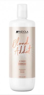 Шампунь для всех типов волос блонд Indola Blond Addict Shampoo 1000мл: фото