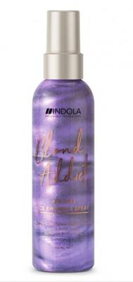 Спрей для холодных оттенков блонд Indola Blond Addict Care Ice Shimmer Spray 150мл: фото