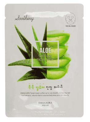 Маска для лица питательная Welcos Kwailnara Aloe Soothing Facial Mask: фото