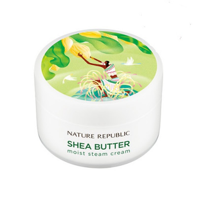 Крем для лица паровой NATURE REPUBLIC SHEA BUTTER STEAM CREAM_MOIST 100мл: фото