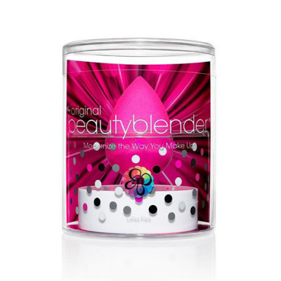 Спонж beautyblender original розовый + мини мыло для очистки solid blendercleanser: фото