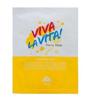 Маска для лица тканевая осветляющая Lioele Viva La Vita Facial Mask 25г: фото