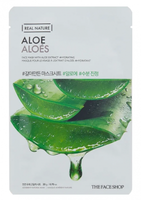 Маска с экстрактом алоэ THE FACE SHOP REAL NATURE MASK SHEET ALOE: фото