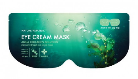 Маска гидрогелевая для глаз NATURE REPUBLIC AQUA COLLAGEN SOLUTION MARINE HYDROGEL EYE CREAM MASK: фото