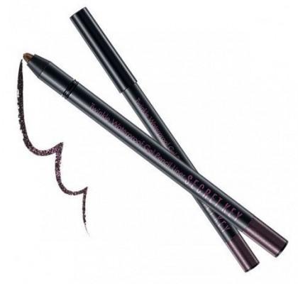 Карандаш автоматический для глаз водостойкий SECRET KEY Twinkle Waterproof Gel Pencil Liner 07 Dark Purple 0,5г: фото