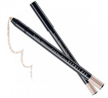 Карандаш автоматический для глаз водостойкий SECRET KEY Twinkle Waterproof Gel Pencil Liner 02 Beige Shine 0,5г: фото