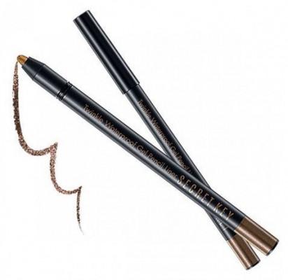 Карандаш автоматический для глаз водостойкий SECRET KEY Twinkle Waterproof Gel Pencil Liner 01 Moca Brown 0,5г: фото