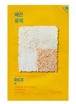 Маска тканевая против пигментации с рисом Holika Holika Pure Essence Mask Sheet Rice 20мл: фото