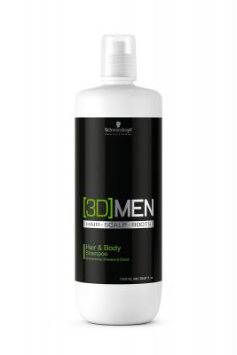 Шампунь для волос и тела Schwarzkopf Professional [3D]MEN 1000 мл: фото