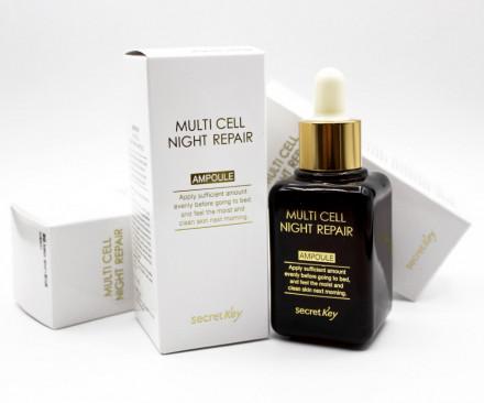 Сыворотка ночная с фитостволовыми клетками Secret Key Multi Cell Night Repair Ampoule 50 мл: фото