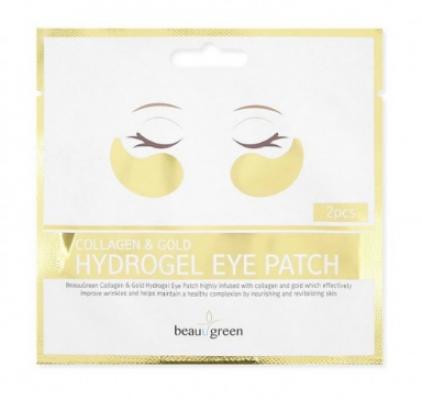 Патчи для глаз гидрогелевые Beauugreen Collagen & Gold Hydrogel Eye Patch 1пара: фото
