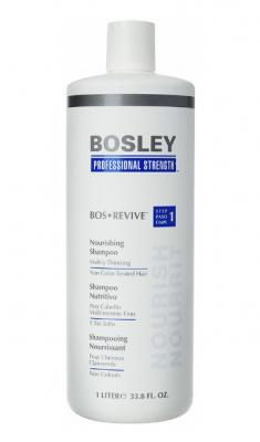 Шампунь питательный для истонченных неокрашенных волос Bosley Bos Revive Step 1 Nourishing Shampoo Visibly Thinning Non Color-Treated Hair 1000мл: фото
