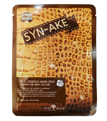 Маска тканевая со змеиным ядом May Island Real Essence Sye-Ake Mask Pack 25мл: фото