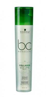 Шампунь мицеллярный Schwarzkopf Professional BC Collagen Volume Boost 250 мл: фото