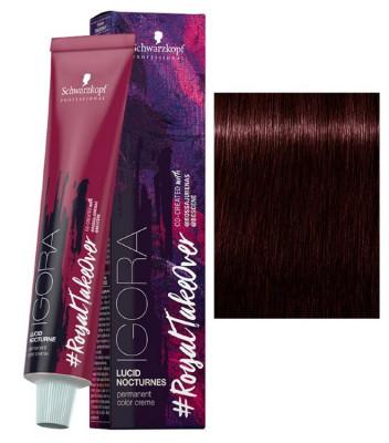 Крем-краска Schwarzkopf Professional Igora Royal Lucid Nocturnes 5-819 Светлый коричневый красный сандрэ фиолетовый 60 мл: фото