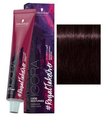 Крем-краска Schwarzkopf Professional Igora Royal Lucid Nocturnes 4-998 Средний коричневый экстра фиолетовый красный 60 мл: фото