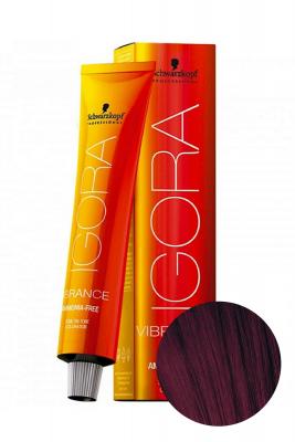 Крем-краска Schwarzkopf professional Igora Vibrance 4-99 Средний коричневый фиолетовый экстра 60 мл: фото