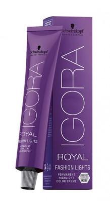 Крем-краска для цветного мелирования Schwarzkopf professional Igora Royal Fashion Light L-22 пепельный экстра 60 мл: фото