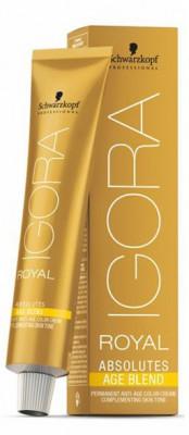 Крем-краска для седых волос Schwarzkopf Professional Igora Royal Absolutes Age Blend 6-580 Темный Русый Золотистый красный 60 мл: фото