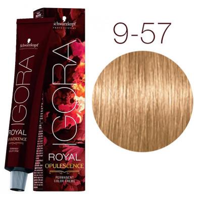 Крем-краска Schwarzkopf professional Igora Royal Opulescence 9-57 блондин золотистый медный 60 мл: фото