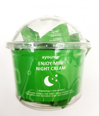 Крем для лица ночной с центеллой AYOUME ENJOY MINI NIGHT CREAM 3г*30шт: фото