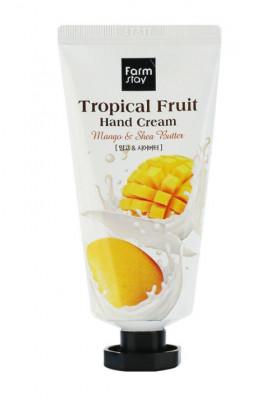 Крем для рук с манго и маслом ши FarmStay Tropical Fruit Hand Cream Mango & Shea Butter 50мл: фото