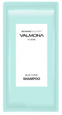 Набор для волос: Шампунь УВЛАЖНЕНИЕ EVAS VALMONA Recharge Solution Blue Clinic Shampoo, 10мл*50 шт: фото