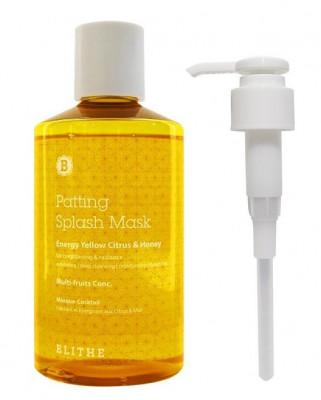 Сплэш-маска для сияния BLITHE Patting Splash Mask Energy Yellow Citrus & Honey 300 мл: фото