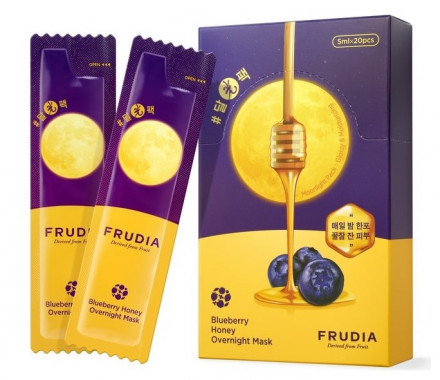 Маска ночная с черникой и медом Frudia Blueberry Honey Overnight Mask 5мл*20: фото
