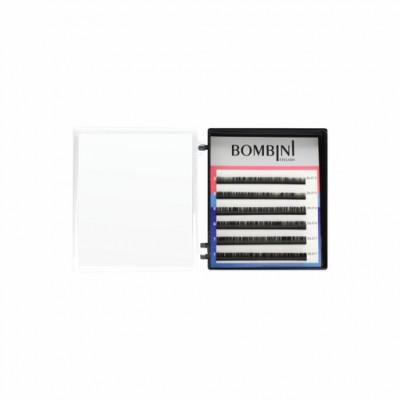 Ресницы Bombini Черные, 6 линий, изгиб С - mini-MIX 9-11 0.07: фото