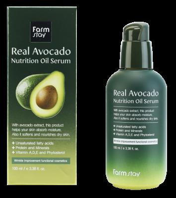 Сыворотка питательная с маслом авокадо FarmStay Real Avocado Nutrition Oil Serum 100мл: фото