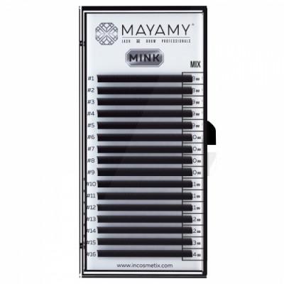 Ресницы MAYAMY MINK 16 линий D 0,07 MIX: фото