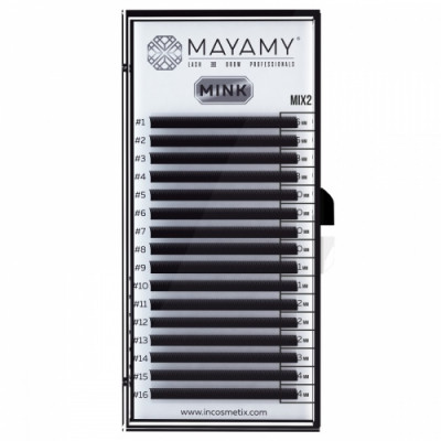 Ресницы MAYAMY MINK 16 линий D 0,10 MIX 2: фото