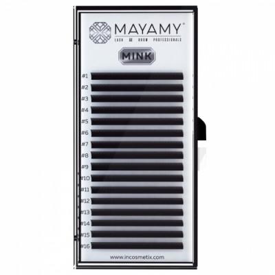 Ресницы MAYAMY MINK 16 линий С 0,07 9 мм: фото