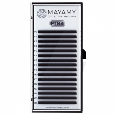 Ресницы MAYAMY MINK 16 линий С 0,07 7 мм: фото