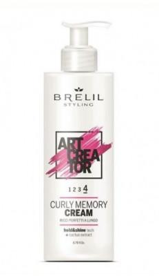 Крем для вьющихся волос с эффектом памяти BRELIL ART CREATOR CURLY MEMORY CREAM 200мл: фото