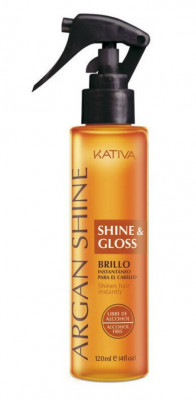 Спрей с аргановым маслом «Блеск и сияние волос» Kativa ARGANA120 мл: фото