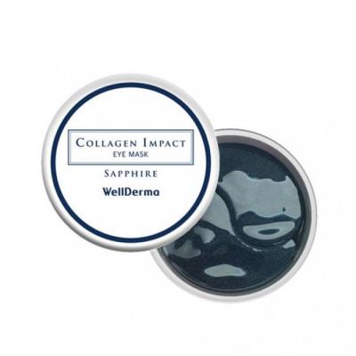 Увлажняющие гидрогелевые патчи с морским коллагеном WELLDERMA Collagen Impact Eye Mask Sapphire 60 шт: фото