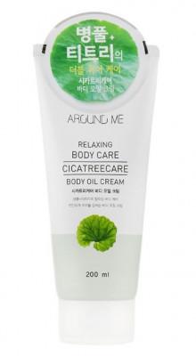 Крем-масло для тела с центеллой и чайным деревом WELCOS AROUND ME Relaxing Body Care Cicatreecare Body Oil Cream 200мл: фото