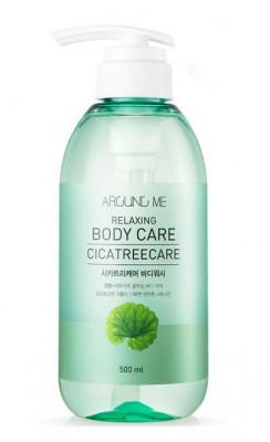 Гель для душа с центеллой и чайным деревом WELCOS AROUND ME Relaxing Body Care Cicatreecare Body Wash 500мл: фото